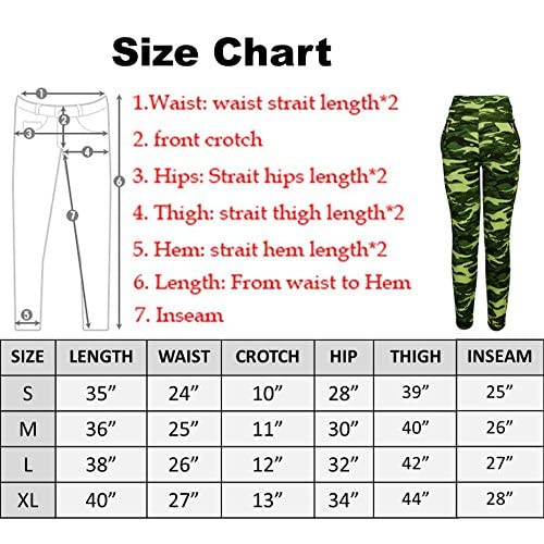 Abundant Life Camo Yoga Pants For Women - Best Quality - Zippered Pockets (Long)