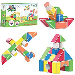 Magnetic Stick N Stack Set of 6 Super Soft Bath Toy Garden Set