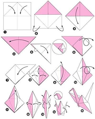 15,2 cm carr/é facile /à plier pour d/ébutant 200 feuilles m/ême couleur sur les deux c/ôt/és 20 couleurs vives Papier origami double face