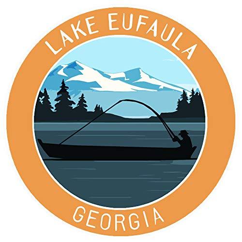 Bass Fishing Lake Eufaula Georgia Vinyl Printed Die-Cut Decorative Auto Decal Sticker Appliques ~ Lake Life Outdoor Series