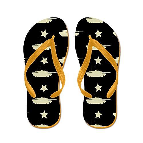 Cafepress M1 Abrams Patroon (zwart) - Flip Flops, Grappige String Sandalen, Strand Sandalen Oranje