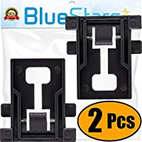 Ultra Durable W10195840 Dishwasher Rack Adjuster Positioner Replacement Part by Blue Stars - Exact Fit for Whirlpool Kenmore Kitchenaid Dishwashers - Replaces WPW10195840 - PACK OF 2