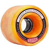 Landyachtz Chubby and Fatty Hawgs Wheels 60mm/63mm 78a [Multiple Colors] (Orange w/Bearings, 60mm - Chubby Hawgs)