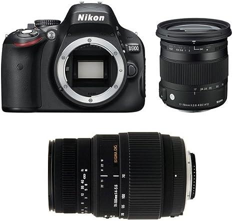 Nikon D5100 + Sigma 17-70 + Sigma 70-300 DG Macro Juego de cámara ...