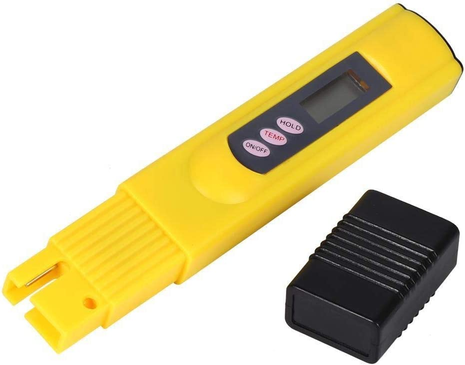 Broco Neuer LCD-Wasserqualit/ät Pr/üfungs-Feder-Purity Filter TDS Meter Tester 0-9990 PPM Temp Gelb