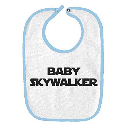 Bebé Skywalker Star Wars divertido parodia bebé babero, Celeste (Baby Blue), Talla única