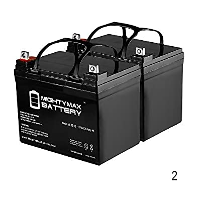 35AH 12V DC DEEP CYCLE SLA SOLAR ENERGY STORAGE BATTERY - 2 Pack - Mighty Max Battery brand product by Mighty Max Battery