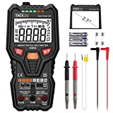 Multimeter, Tacklife Digital Electric Tester Auto Range 6000 Counts TRMS Voltmeter Ammeter Ohmmeter with NCV and Flashlight, Multi Tester for Temperature, Live Line, Continuity, Capacitance, Resistance, Frequency, Triode/diode Measurement | DM06