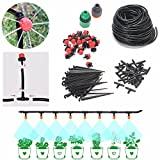 DIY Micro Irrigation Drip System, Pathonor 82ft Hose, 30 Dripper & Fixed stem, 29 Tee Joints, 2 Faucet Fittings- Tubing Watering Drip Kit for Garden Landscape Flower Bed Patio Plants