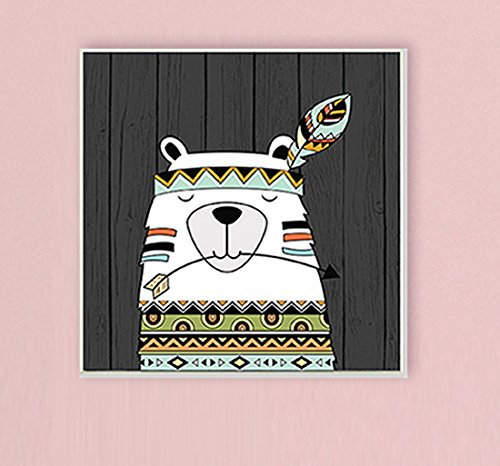 Stupell Home Décor Tribal Boho Bear Wall Plaque Art, 12 x 0.5 x 12, Proudly Made in USA by The Kids Room by Stupell (Image #2)