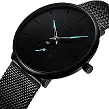 Men's Watch Unisex Minimalist Watch Waterproof Watch Classic Gift Mesh with Blue Pointer