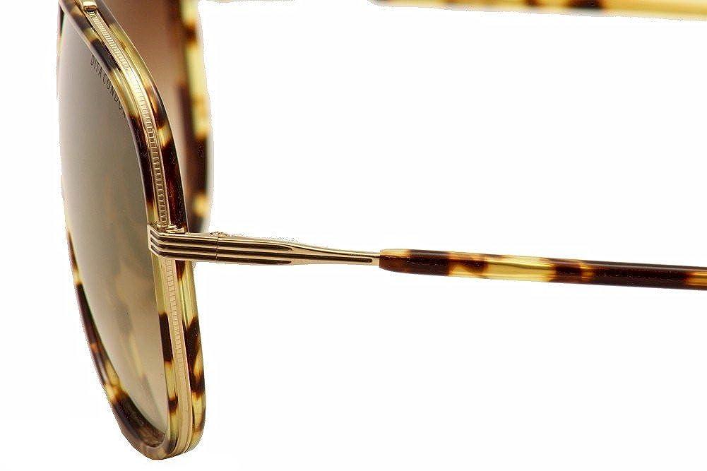 146ce613483 Amazon.com  Dita Condor Two 21010A 21010 A Shiny Tortoise 12K Gold Aviator  Sunglasses 62mm  Dita  Clothing
