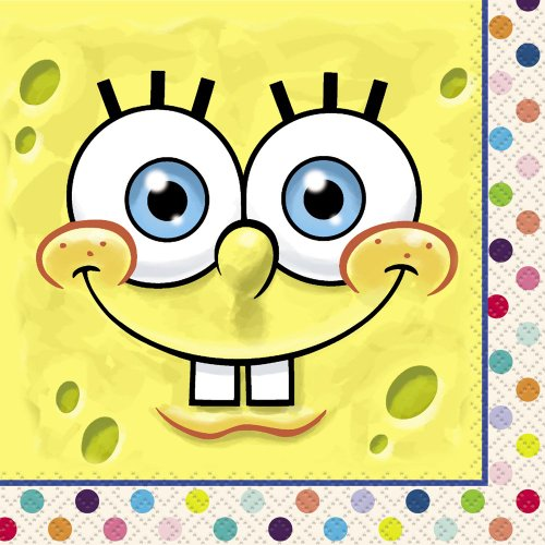 SpongeBob SquarePants Beverage Napkins, 16ct -