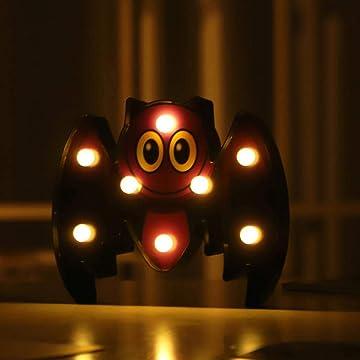 Fanala Halloween Bat Spider Skull Pumpkin Shape LED Decorative Night Light Night Lights