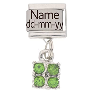 Personalised JUNE Birthstone Dangle Name   Date Charm - fits Nomination  Classic 6d5ef2e6d