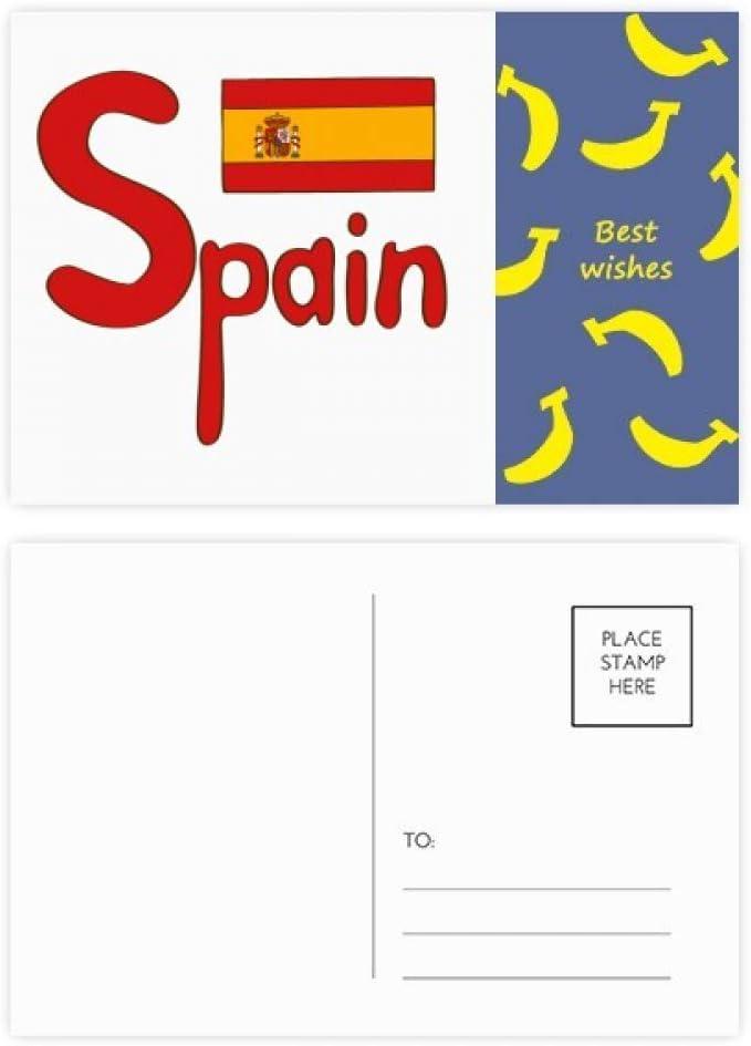 Bandera nacional de España, diseño de banana, tarjeta de ...