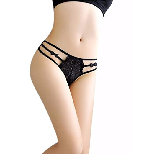15ef50500c51 Underwear Start, Women Sexy Lace Briefs Panties Thongs G-String Lingerie  (Black)