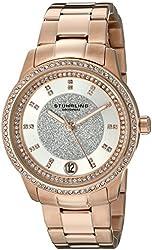 Stuhrling Original Women's 794.03 Symphony Analog Display Quartz Rose Gold-Tone Watch