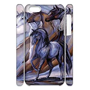 DIY Protective Hard 3D Plastic Case for Iphone 4,4S - Horse Print customized 3D case at CHXTT-C