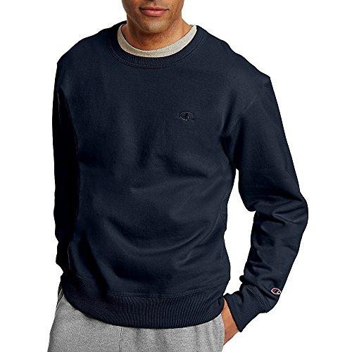 Champion Men's Powerblend Fleece Pullover Sweatshirt_Navy_M