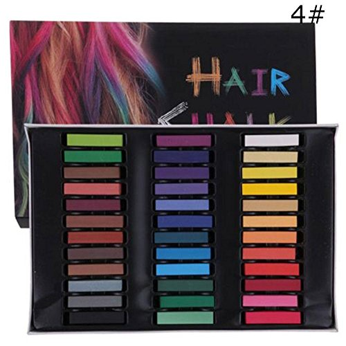 Gracefulvara 36 Color Hair Chalk Temporary Hair Dye Color Kit by Gracefulvara
