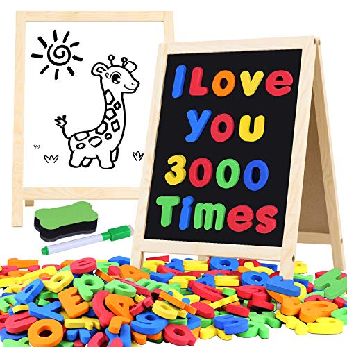 [해외]Giftinthebox Magnetic Letters and Numbers for Toddlers with Easels 133 Pcs ABC Alphabets Magnets and Dry Erase Magnetic Double-Side Board Kids Educational Classroom Set Preschool Learning Toys / Giftinthebox Magnetic Letters and Nu...