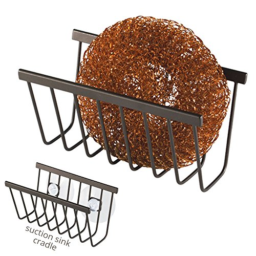 Suction Sponge and Soap Holder Caddy for Sink or Shower, Oil Rubbed Bronze