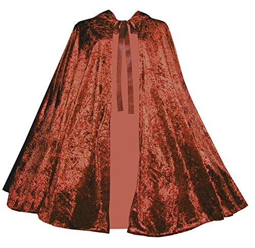 Victorian Vagabond Gothic Medieval Renaissance Steampunk Velvet Capelet Copper -