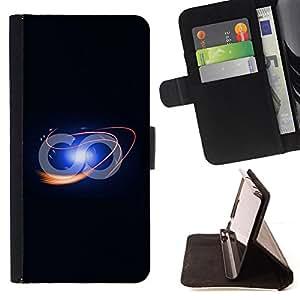 For LG OPTIMUS L90 - Funny Infinite Loop /Funda de piel cubierta de la carpeta Foilo con cierre magn???¡¯????tico/ - Super Marley Shop -