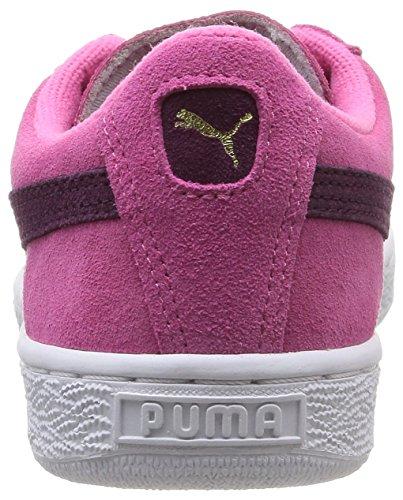 Puma Suede Jr, Baskets Basses Mixte Enfant, Rouge Rose (Carmine Rose/Italian Plum)