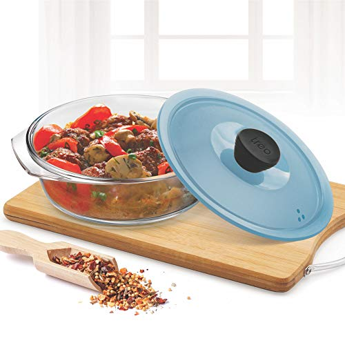Treo by Milton Borosilicate Round Casserole with Microwavable Lid, 1500 ml Price & Reviews