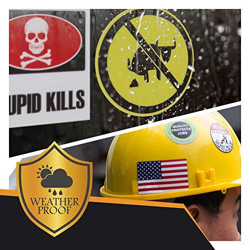 37-Pack Hard Hat Stickers, Tool Box, Thermos, Helmet | 100% Vinyl, Waterproof, MADE IN USA! Funny Stickers for Mechanics, Union, Oilfield, Military, Construction, Welders, Man Cave, Cars, Trucks ! by Shubies (Image #1)