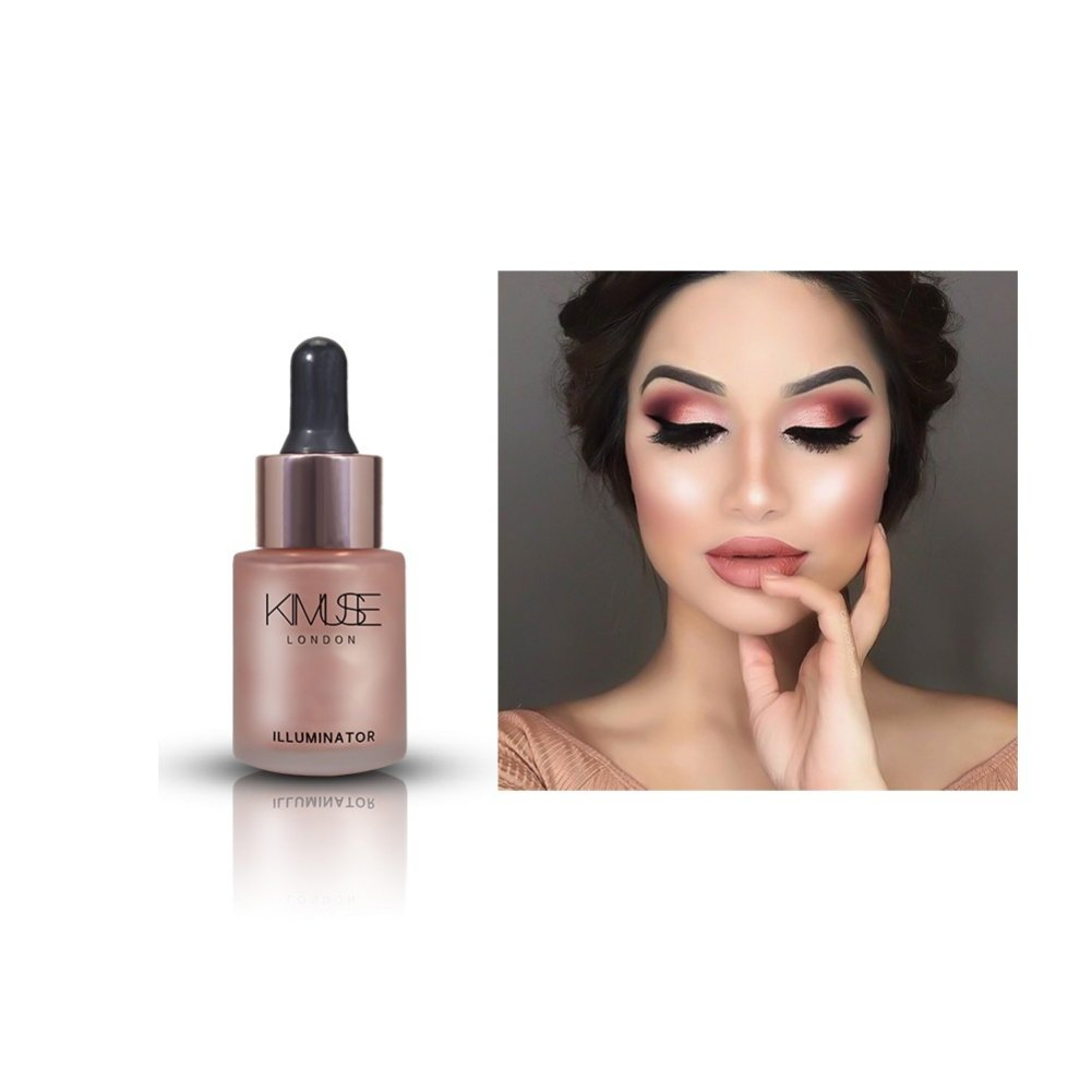 Allbesta Liquid Highlighter Bronzer Shimmer Make-Up Foundation Concealer Highlight Cream Face Glitter Ultra Concentrated Drops