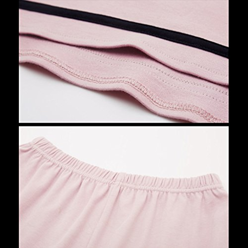casa Semplici a pigiama coreane ragazze lunghe e XXL donne dolci maniche primavera Size possono cotone dolci autunno Waichuan moda x4Ew8r4