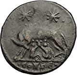 CONSTANTINE I Romulus Remus Twins She-Wolf Rome Commemorative Roman Coin i57395