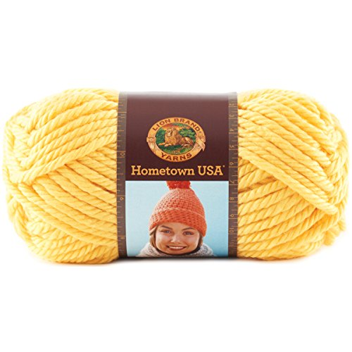 Lion Brand Yarn Hometown Yarn, Pittsburgh Yellow