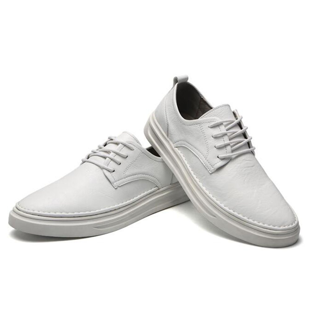 QIDI-Men's shoes Zapatillas para Hombre Blanco Blanco EU40/UK7 EU40/UK7|blanco
