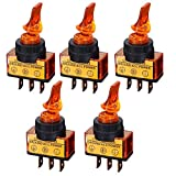 3 position waterproof switch - ZOOKOTO 20A Toggle Switch, 12V DC Two Position 3 Pin ON/OFF SPST 0.47