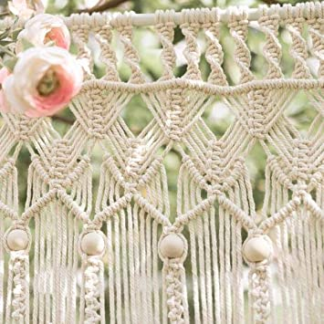 Pflanzenh/änger DIY Handwerk Machen Garten Blumentopf Halter 2mm*400m CYSKY Nat/ürliche Baumwollkordel DIY Handwerk Makramee Seil f/ür String Wandbehang Vorhang Gebunden Seil