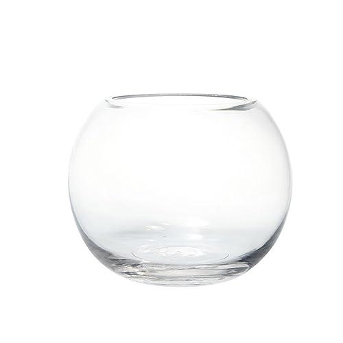 Glass Fishbowl Vase (12.5cm x 10cm)