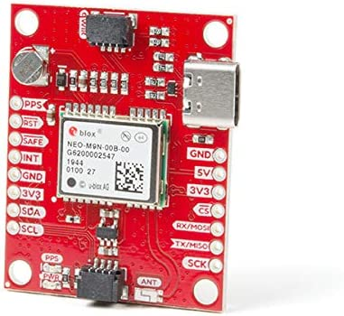 92-Channel M9 Engine GNSS Receiver SparkFun Qwiic PID 15733 GPS Breakout - NEO-M9N, Chip Antenna