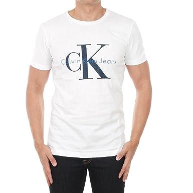 3b1520120 Calvin Klein Jeans t-Shirt Men S Short Sleeve White J30J01237-112 - Bright  White: Amazon.co.uk: Clothing