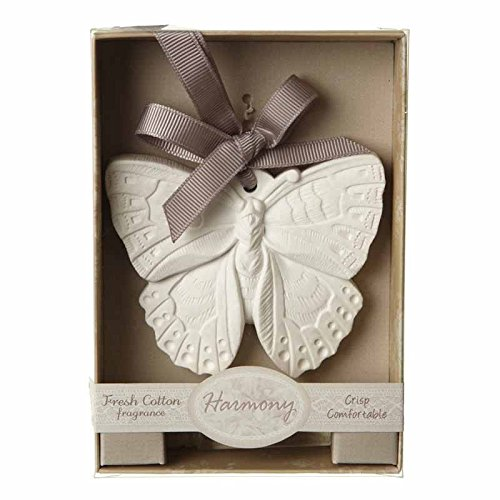 Fresh Cotton Scented Butterfly Clay Wardrobe Fragrance Hanger/Pomander with Ribbon Heaven Sends