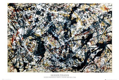 Silver On Black Collections Poster Print by Jackson Pollock,