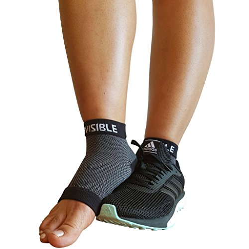 Plantar Fasciitis Compression Socks - Foot Care Sleeves - BeVisible Sports - Best for Heel, Arch & Ankle Brace Support - Boosts Circulation, Aids Relief & Fast Recovery - (Black, Small Medium)