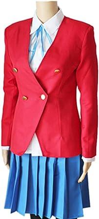 ZY Personajes De Anime Anime Camisa Roja Corbata Falda Azul Uniforme Disfraz De Halloween Conjunto De Disfraces De Carnaval,Full Set-M: Amazon.es: Hogar