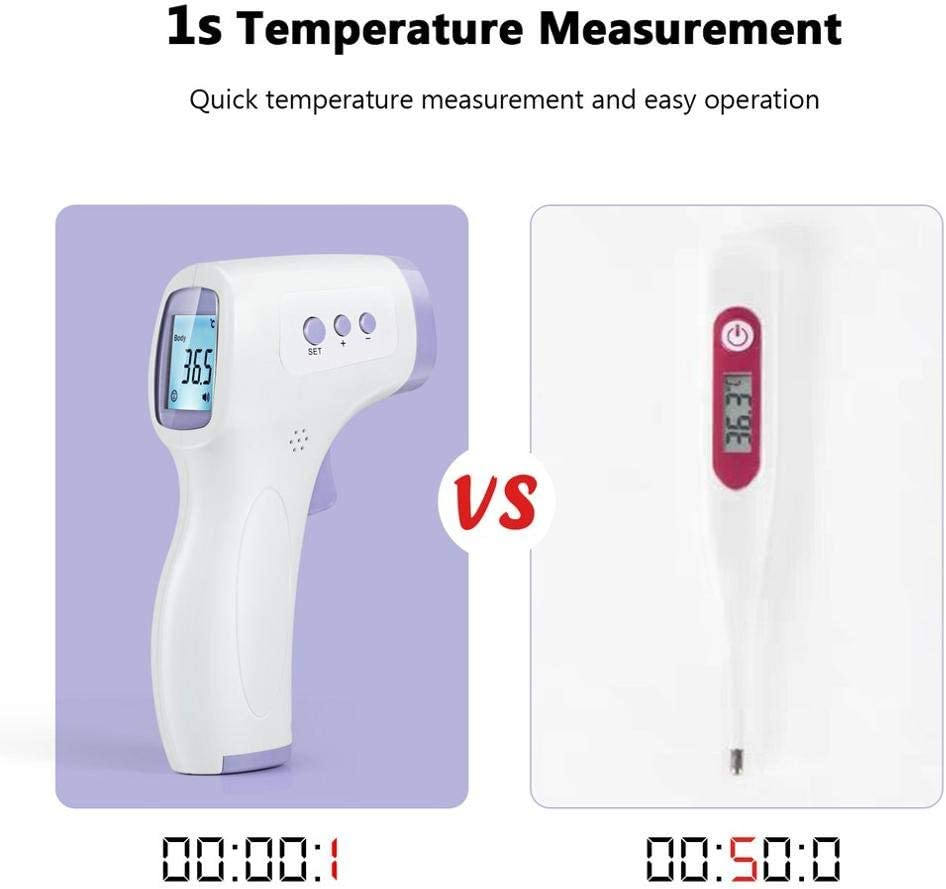 Non-Contact Temperature Teaster with LCD Display Digital Laser Thermograph Forehead Infrared Temperature Measuring Tool
