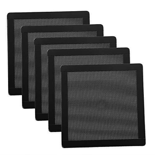 120mm Fan Dust Filter Mesh 4.72inch Magnetic Frame PVC PC Computer Case Fan Dust Mesh Cover Grills Black 5-Pack