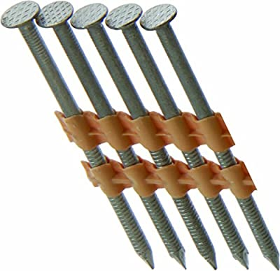 "Grip Rite Prime Guard GR08RHG1M 21° Plastic Strip Round Head Exterior Galvanized Collated Framing Nails, 2-3/8"" x 0.113"", (1, 000per Box) by Gripe Rite"