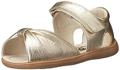 See Kai Run Avianna Sandal (Toddler), Gold, 4 M US Toddler